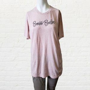 Bella Canvas pink Boss Babe tshirt by Dak&Co